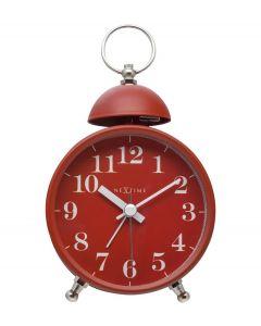 Nextime Wekker Single Bell Rood - 108101