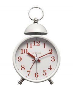 Nextime Wekker Single Bell Wit - 108103