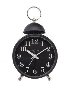 Nextime Wekker Single Bell Zwart - 108104