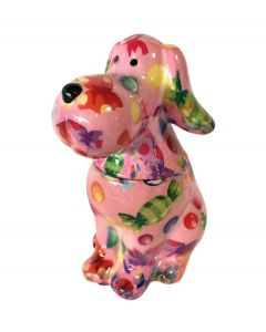 Pomme pidou snoeppot Hond Sweet Toby Roze met snoepjes - 108120