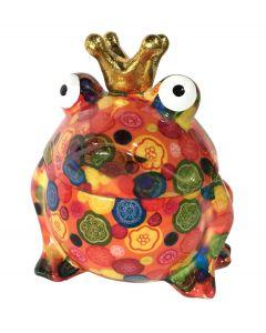 Pomme pidou snoeppot Kikker Sweet Freddy Oranje met bloemen - 108133