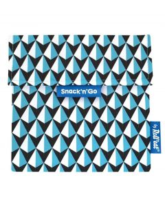 Roll eat herbruikbaar boterhamzakje Snack and Go Tiles Blue - 108205