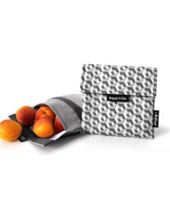 Roll eat herbruikbaar boterhamzakje Snack and Go Tiles Black - 108209
