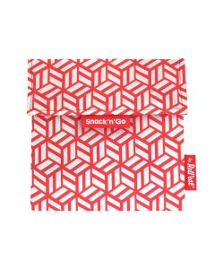 Roll eat herbruikbaar boterhamzakje Snack and Go Tiles Red - 108207