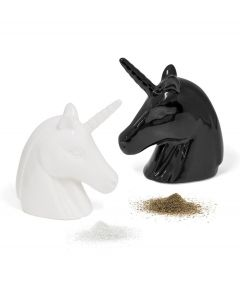 Balvi peper en zoutstel Unicorn zwart wit keramiek - 108332