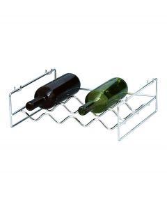 Balvi wijnrek Wave stapelbaar 4 breed chroom metaal - 108296