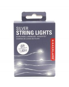 Kikkerland lichtsnoer met led lampjes zilver - 108372