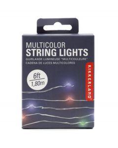 Kikkerland lichtsnoer met gekleurde led lampjes koper - 108373