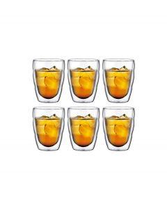 Bodum set van 6 dubbelwandige pilatus glazen 0 -25 l transparant