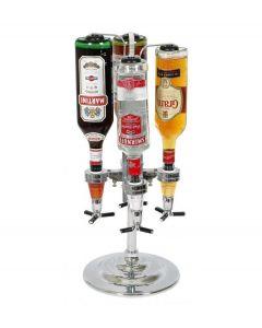 La Chaise Longue drank dispenser voor 4 flessen chroom - 102318