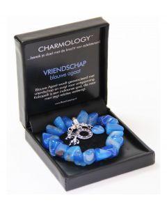 Charmology armband Vriendschap blauw chunky - 102496