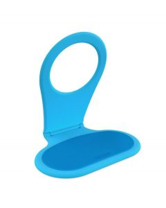 Bobino opvouwbare telefoon houder voor opladen - Turquoise - 103167