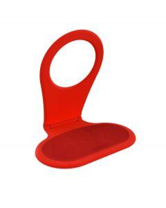 Bobino opvouwbare telefoon houder voor opladen - Rood - 103171