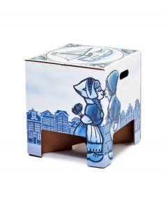 Dutch Design Brand kartonnen krukje - Delfts Blauw - Holland - 103680