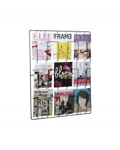 Puhlmann tijdschriftenrek voor aan de wand - Zwart - 9 vaks - 103700