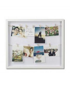 Umbra fotolijst met knijpers Clothesline - Wit - 103745