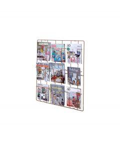 Puhlmann tijdschriftenrek voor aan de wand - Koper - 9 vaks - 103853