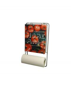 Puhlmann keukenrolhouder met kookboekrek - Chroom - 103857
