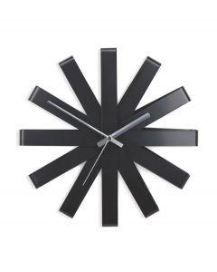 Umbra Wandklok Ribbon - Zwart - 104478