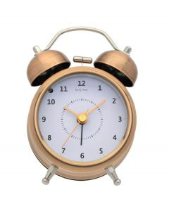 Nextime wekker Wake up small - Koper - Wit - 104404