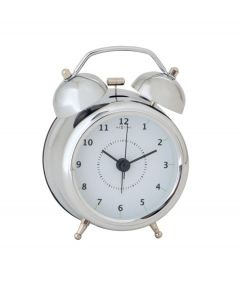 Nextime wekker Wake up small - Zilver - Wit - 104405