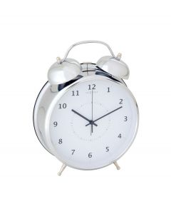 Nextime wekker Wake up large - Zilver - Wit - 104408