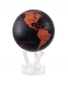 Mova wereldbol op zonne energie Ø 11,5 cm - Koper en zwart (CBE)