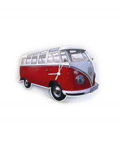 Brisa Wandklok Volkswagen T1 bus Bulli - Rood - 104824