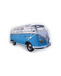 Brisa Wandklok Volkswagen T1 bus Bulli - Blauw - 104825