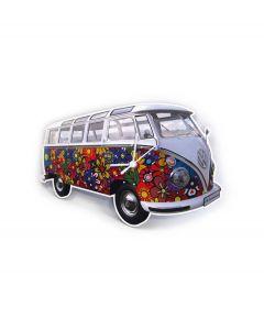 Brisa Wandklok Volkswagen T1 bus Bulli - Bloemen - 104826