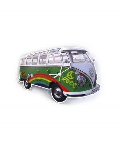 Brisa Wandklok Volkswagen T1 bus Bulli - Groen - 104827