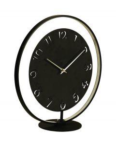 Nextime staande klok Ting met verlichting zwart metaal - 104984