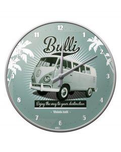 Nostalgic-Art wandklok rond Volkswagen - Retro Bulli - 105046