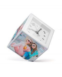 Balvi foto kubus draaiend met klok voor 10 x 10 cm - 105034