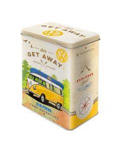 Nostalgic-Art bewaarblik L Volkswagen T1 Bus - Let's get away - 105036