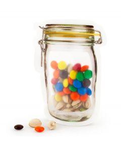 Kikkerland hersluitbare zakjes Zip Bag weckpot - S -  Voorraadpotten, Koektrommels en Bewaarblikken