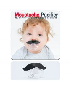 Bitten Baby Speen Pacifier - Snor zwart - 105274