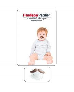 Bitten Baby Speen Pacifier - Snor bruin - 105276