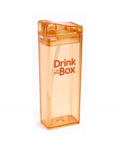 Drink in the Box herbruikbaar drinkpakje - L - Kleur - Oranje