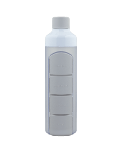 YOS Bottle - waterfles met pillendoos - 4 vaks - grijs - 8715195650610