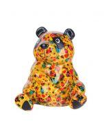 Pomme Pidou spaarpot panda Zsa Zsa - Oranje met lieveheersbeestjes - 104151