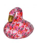 Pomme Pidou spaarpot flamingo Lilly - Roze met roze vlinders - 106456