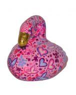 Pomme Pidou spaarpot flamingo Lilly - Roze met hartjes - 106457