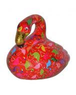 Pomme Pidou spaarpot flamingo Lilly - Rood met flamingo's - 106459