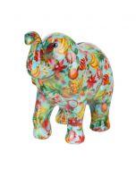 Pomme Pidou spaarpot olifant Zara - Blauw met tropisch fruit - 106468