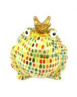 Pomme Pidou spaarpot kikker Freddy - Licht groen met streepjes - 106791