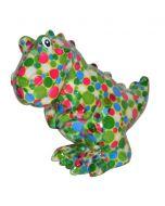 Pomme Pidou spaarpot dinosaurus T-rex Tito - Licht groen met stippen - 107054