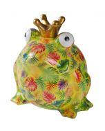 Pomme Pidou spaarpot kikker Freddy XL Groen met gekleurde bladeren - 108289