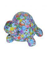 Pomme Pidou spaarpot schildpad Quickie - Blauw met lolly's - 103311