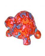 Pomme Pidou spaarpot schildpad Quickie - Rood met gekke beesten - 103316